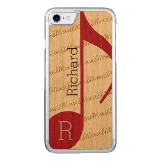 really-cool red musical-note carved iPhone 8/7 case