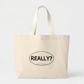 Really Oval Sticker Tote Totebag Reusable Bag