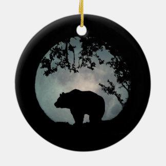 Really Pretty Bear and Moon Christmas Ornament