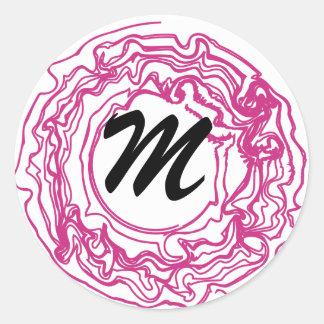 really swirly hot pink Sticker.