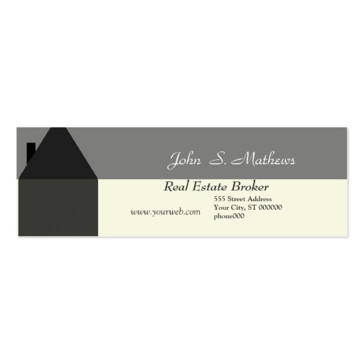 Realtor Mini-Card Pack Of Skinny Business Cards