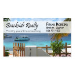 Realtors, Real Estate, Home Stagers, Beachfront Pack Of Standard Business Cards
