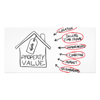 Realty Property Values Flow Chart Custom Photo Card