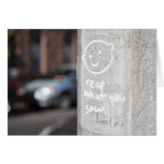 Reap What You Sow New York City Graffiti Photo NYC Card