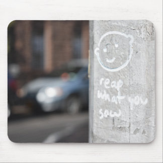 Reap What You Sow New York City Graffiti Photo NYC Mouse Pad