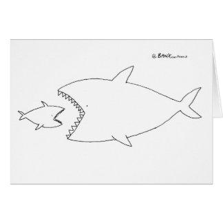 Reaper Fish Greetings Card