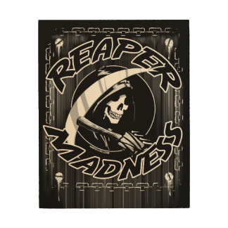 Reaper Madness Wood Wall Art
