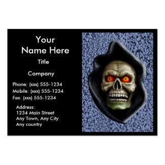 REAPER on STEEL BLUE (Halloween design) ~ Business Card Templates