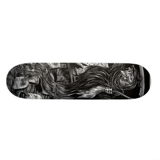 reaper skateboard/ black and grey