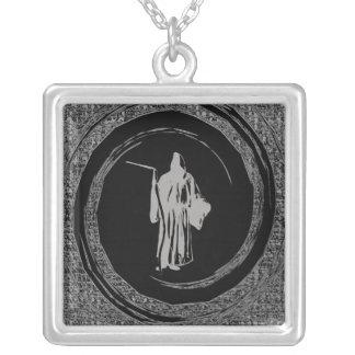 reaper square pendant necklace