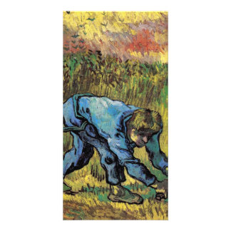 Reaper with Sickle after Millet by van Gogh Photo Card Template