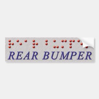 Rear Bumper Braille Car Bumper Sticker