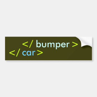 Rear Bumper Sticker - Coder