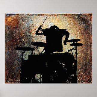 rear view Drummer, Copyright Karen J Williams Poster