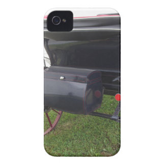 Rear view of old-fashioned horse carriage on green Case-Mate iPhone 4 cases