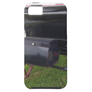 Rear view of old-fashioned horse carriage on green tough iPhone 5 case