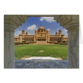 Rear view of Umaid Bhawan Palace hotel, Jodjpur, Greeting Card