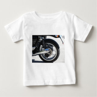 Rear wheel and chromed exhaust pipe of motorcycle baby T-Shirt