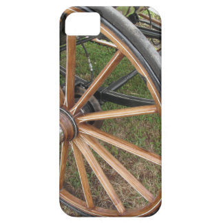 Rear wheels of old-fashioned horse carriage barely there iPhone 5 case