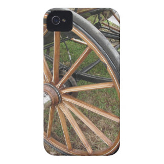 Rear wheels of old-fashioned horse carriage iPhone 4 Case-Mate case