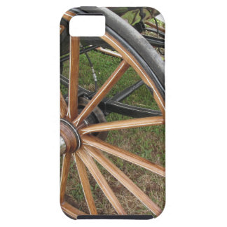Rear wheels of old-fashioned horse carriage iPhone 5 case