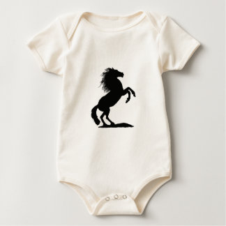 Rearing Black Stallion - Baby Bodysuit