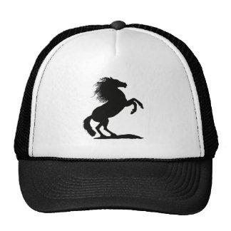 Rearing Black Stallion - Cap