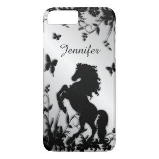 Rearing Black Stallion / Horse With Name iPhone 8 Plus/7 Plus Case