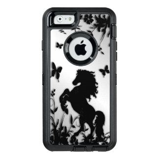 Rearing Black Stallion OtterBox Defender iPhone Case
