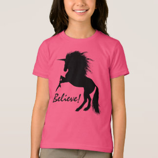 "Rearing Black Unicorn ""Believe"" T-Shirt"