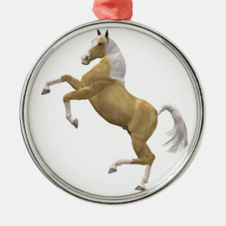 Rearing horse metal ornament