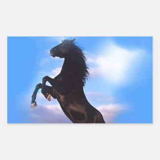 Rearing Horse Rectangular Sticker