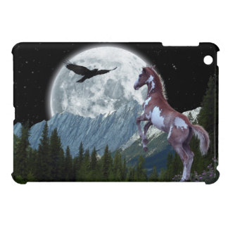 Rearing Pinto Colt and Mountains for Horse-lovers Case For The iPad Mini