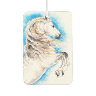 Rearing White Horse Car Air Freshener