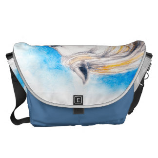 Rearing White Horse Courier Bag