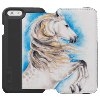 Rearing White Horse Incipio Watson™ iPhone 6 Wallet Case