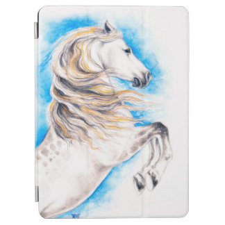 Rearing White Horse iPad Air Cover