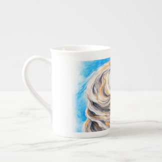 Rearing White Horse Tea Cup