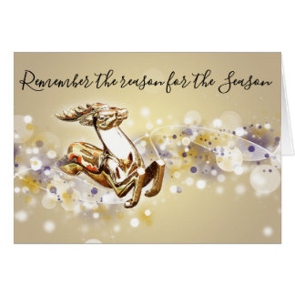 Reason for The Season Christian Christmas Card
