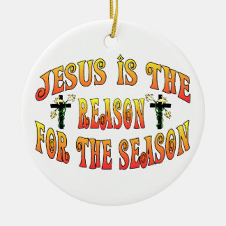 Reason For The Season Easter Round Ceramic Decoration