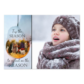 Reason for the Season Nativity - One or Two Photos Card