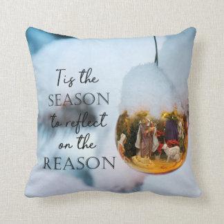 Reason for the Season Nativity Ornament Cushion