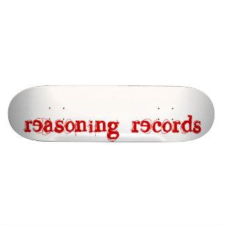 reasoning records sk8 skate board deck