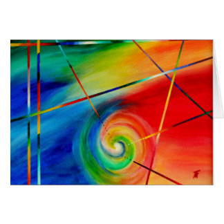 Reasoning with Emotions - Abstract Art Card