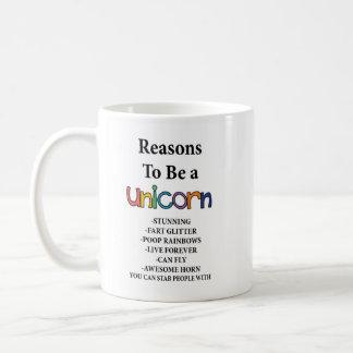 Reasons to be a Unicorn Mug with Unicorn