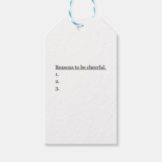 Reasons To Be Cheerful.. Gift Tags