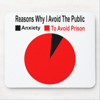 Reasons Why I Avoid The Public To Avoid Prison Mouse Pad