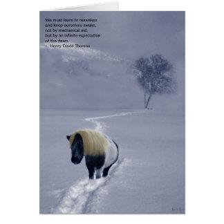"""""""Reawakening"""" Thoreau card"""