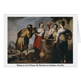 Rebecca And Eliezer By Bartolome Esteban Murillo Card