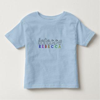 REBECCA ASL FINGERSPELLED NAME SIGN TODDLER T-Shirt